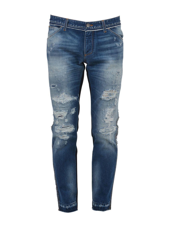 Dolce & Gabbana Patchwork Destroyed Denim Jeans