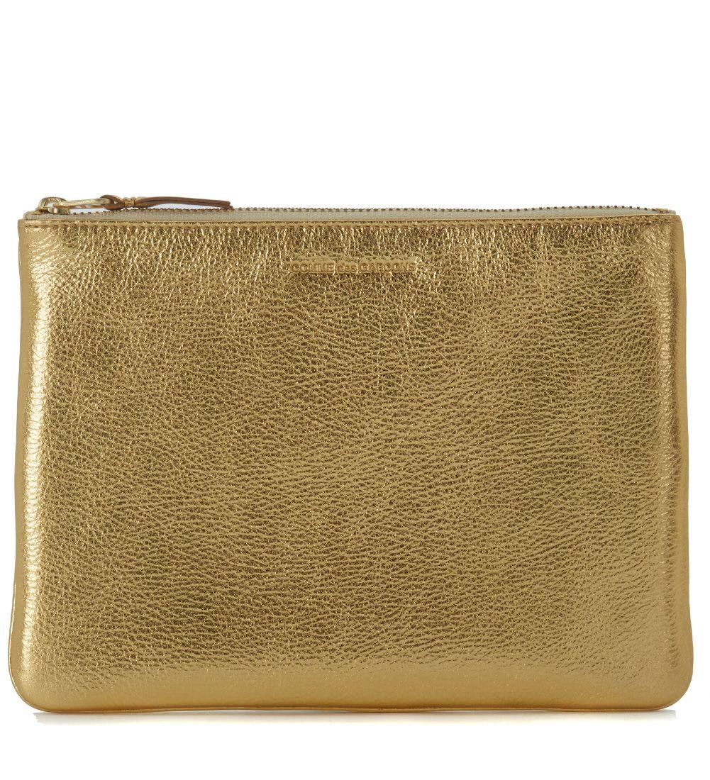 Comme Des Garçons Golden Leather Pochette Wallet
