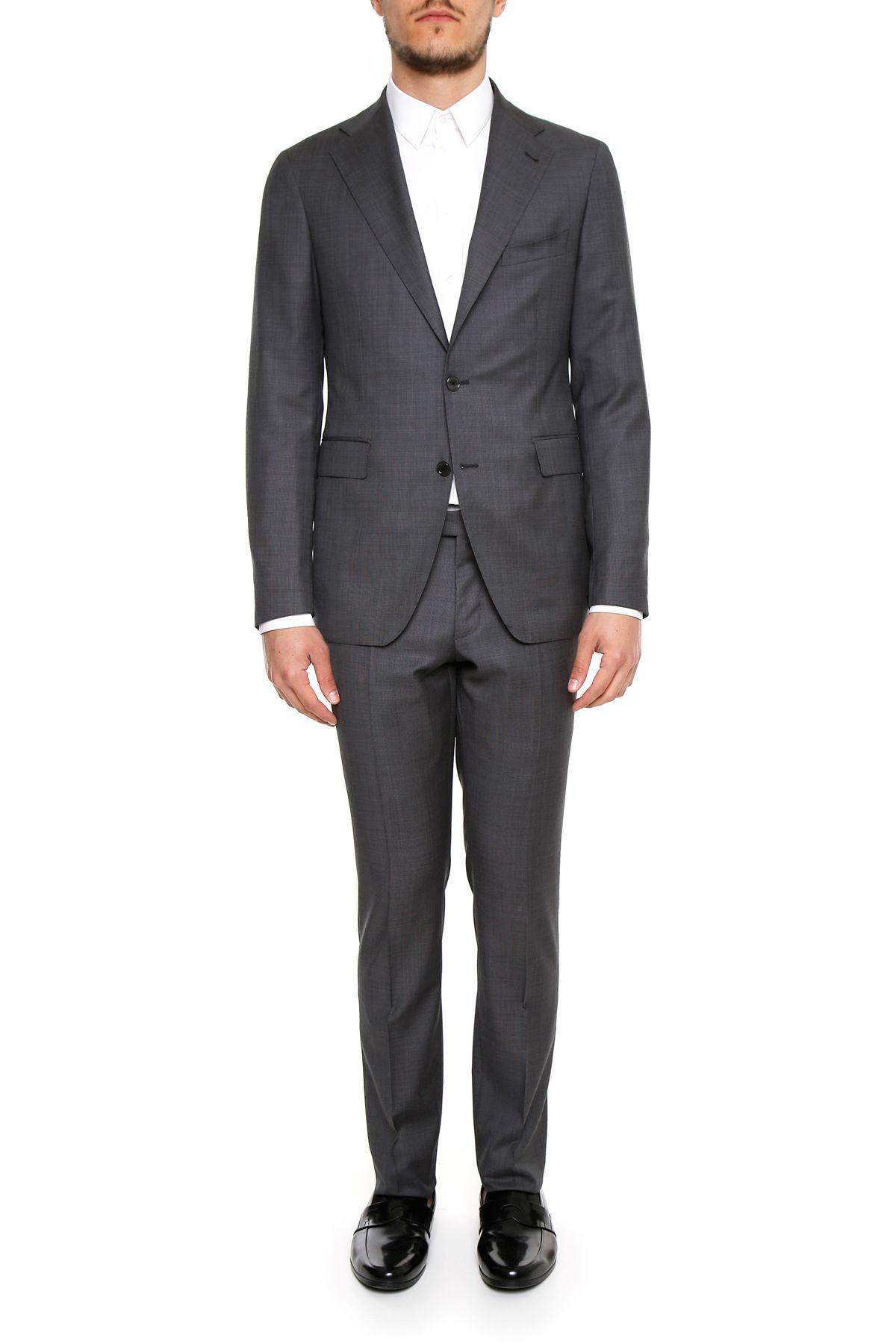 Tonal Micro Pattern Suit