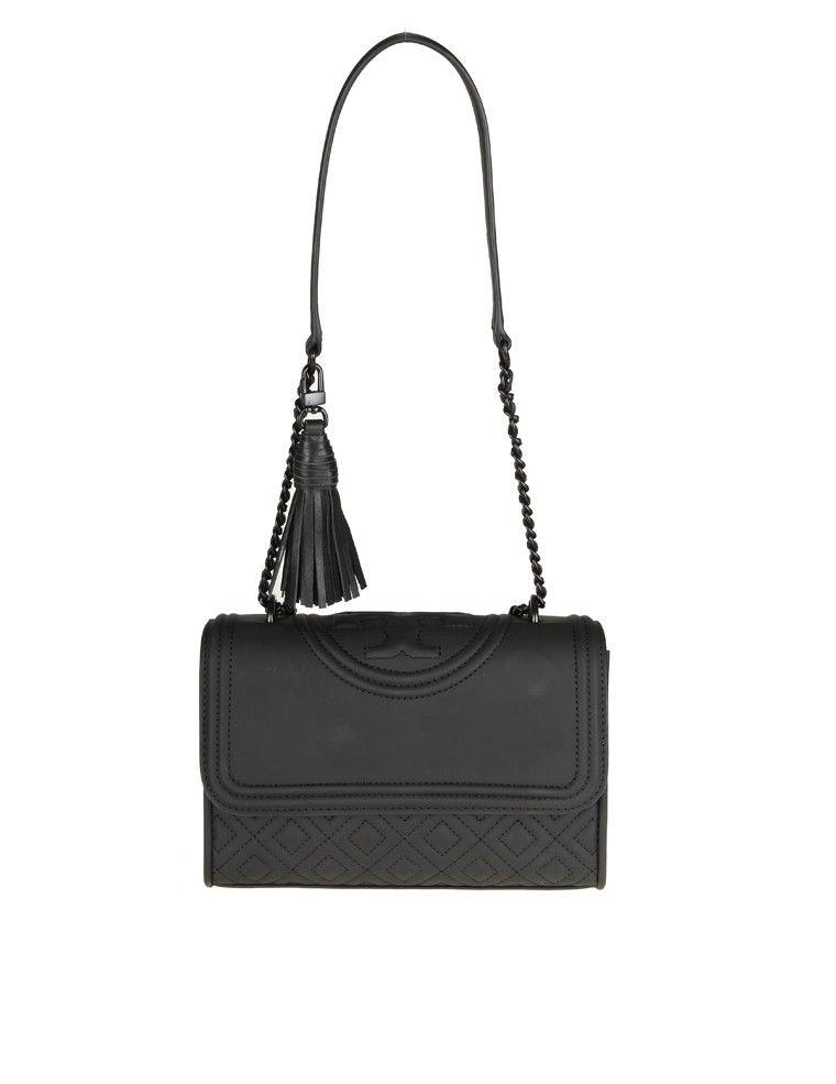 Tory Burch Fleming Matte Small Shoulder Bag Color Black