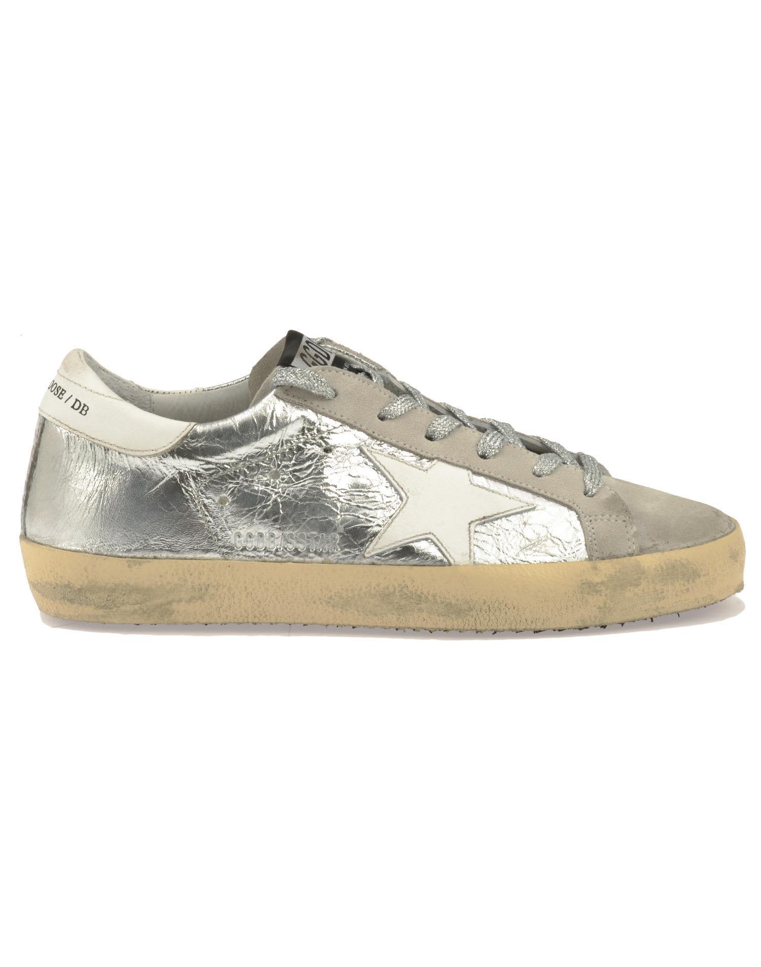golden goose golden goose superstar sneaker silver women 39 s sneakers italist. Black Bedroom Furniture Sets. Home Design Ideas