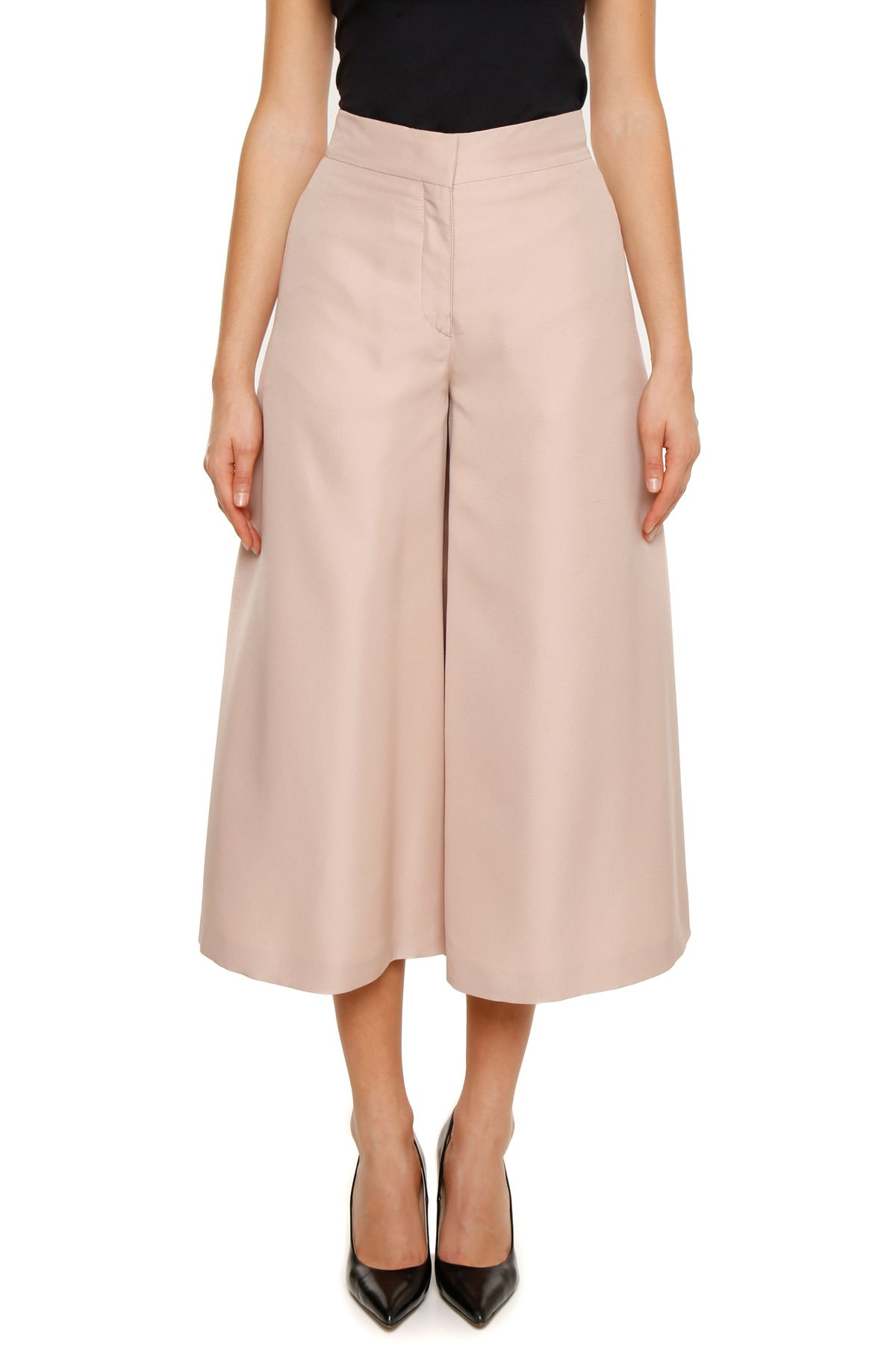 Silk Shantung Trousers