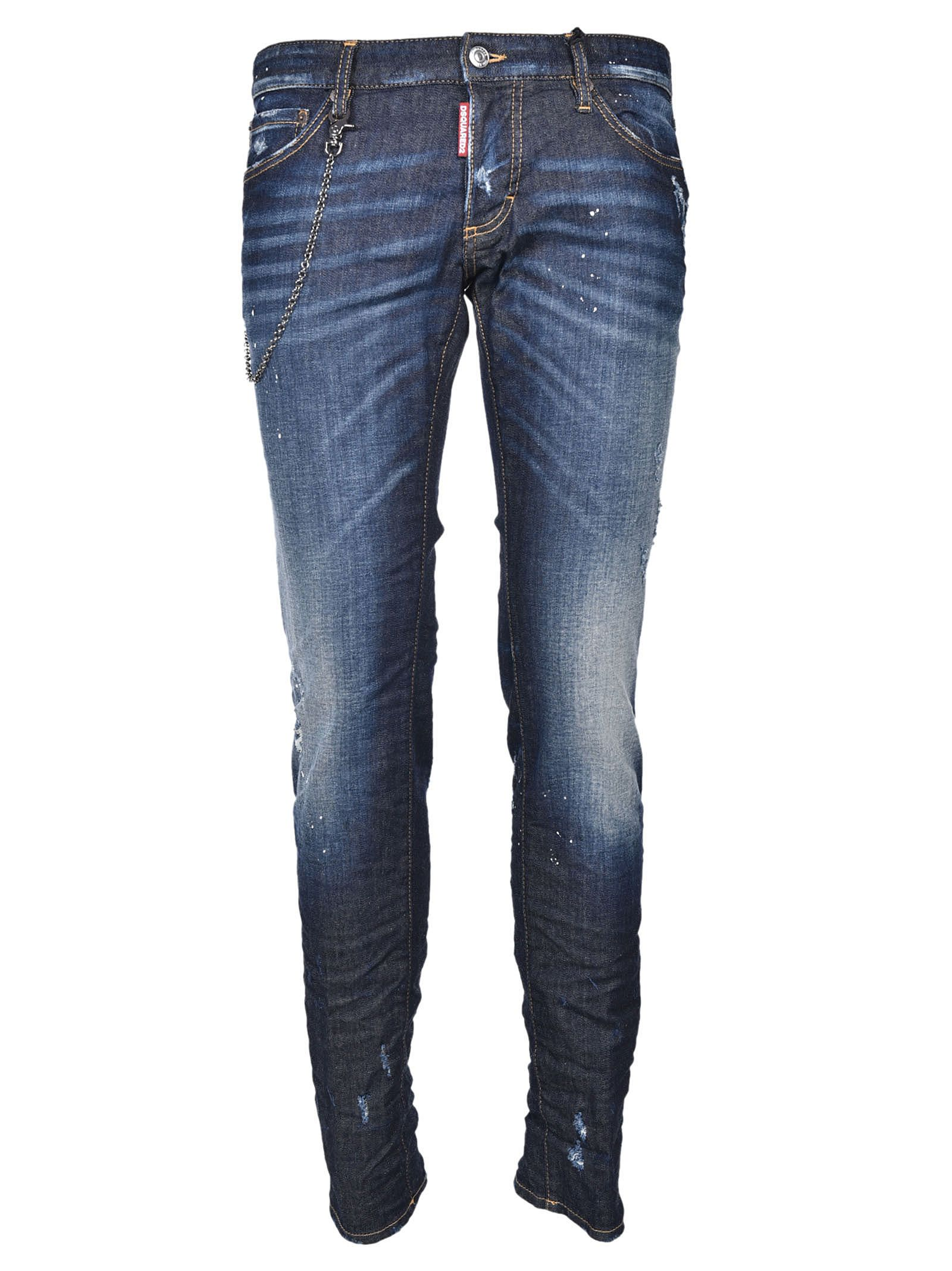 Dsquared2 Slim Chain Trim Jeans