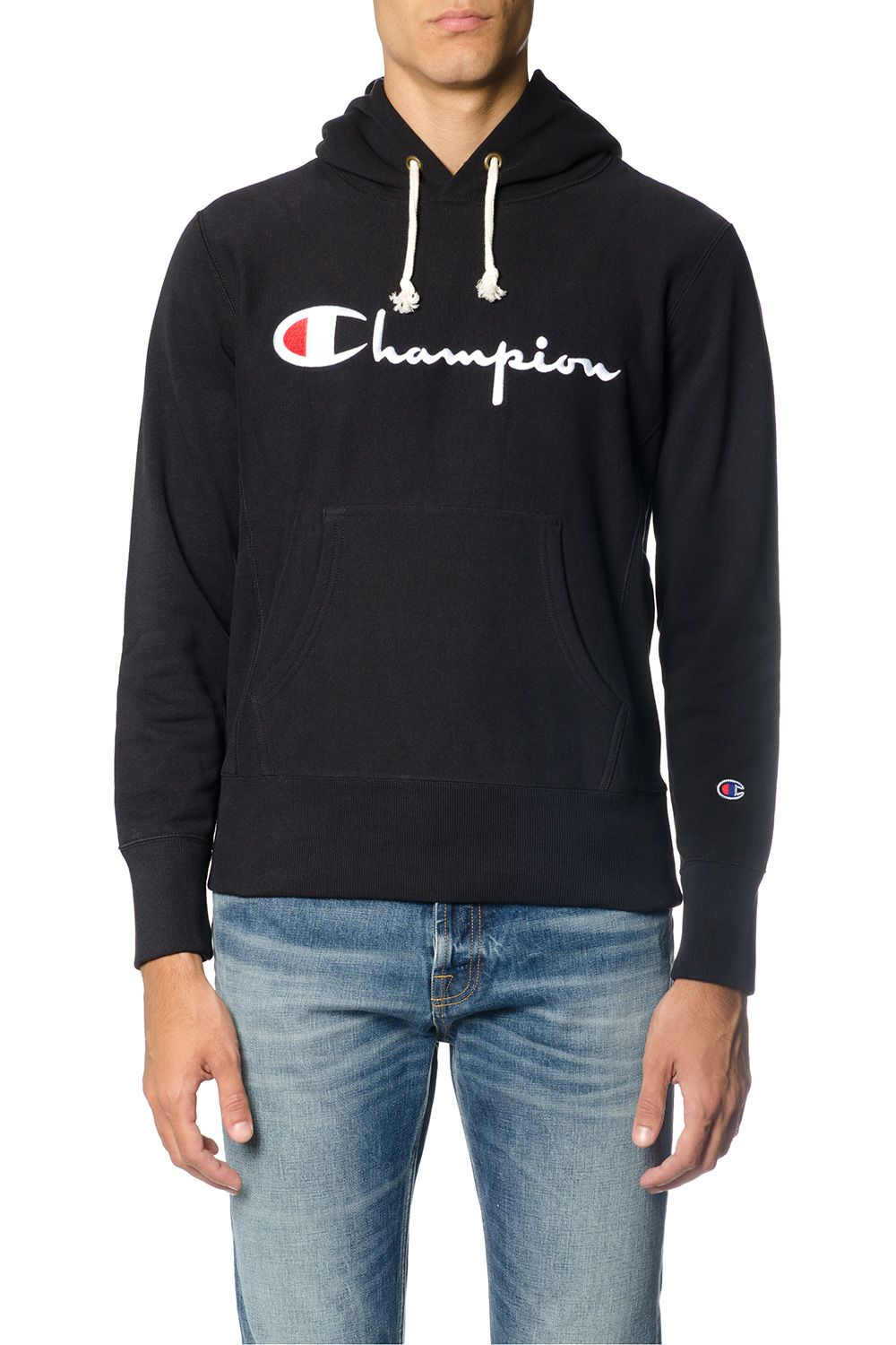 Champion Cotton Sweatshirt With Champion Written
