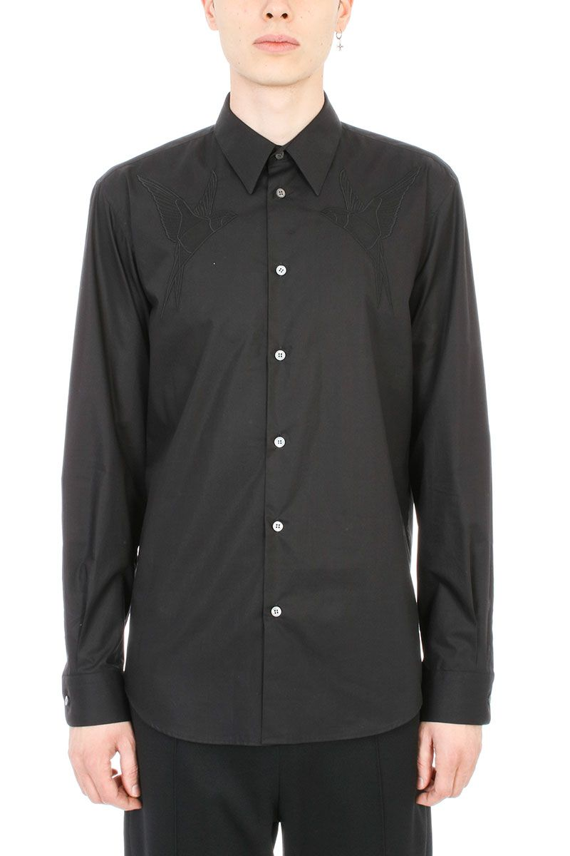 Stella McCartney Embroidery Black Cotton Shirt