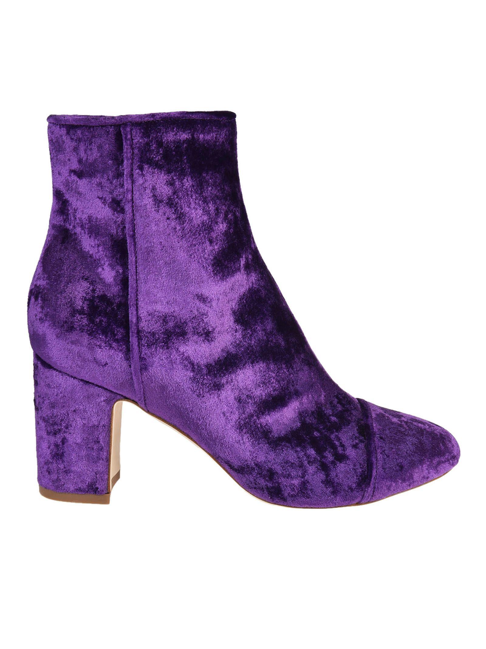 Polly Plume Ally Velvet Ankle Boots