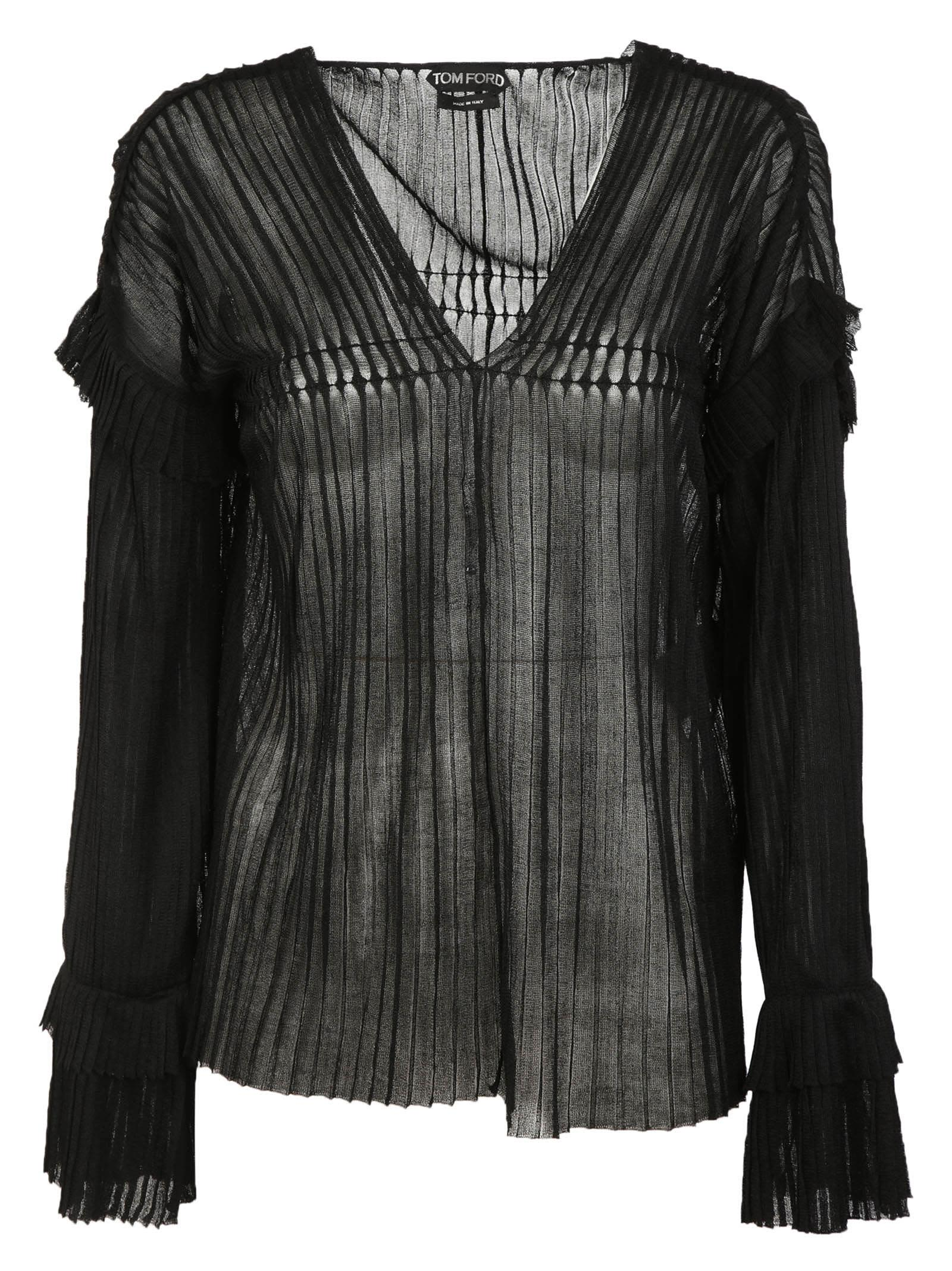 Tom Ford Ruffle Cuffs Cardigan