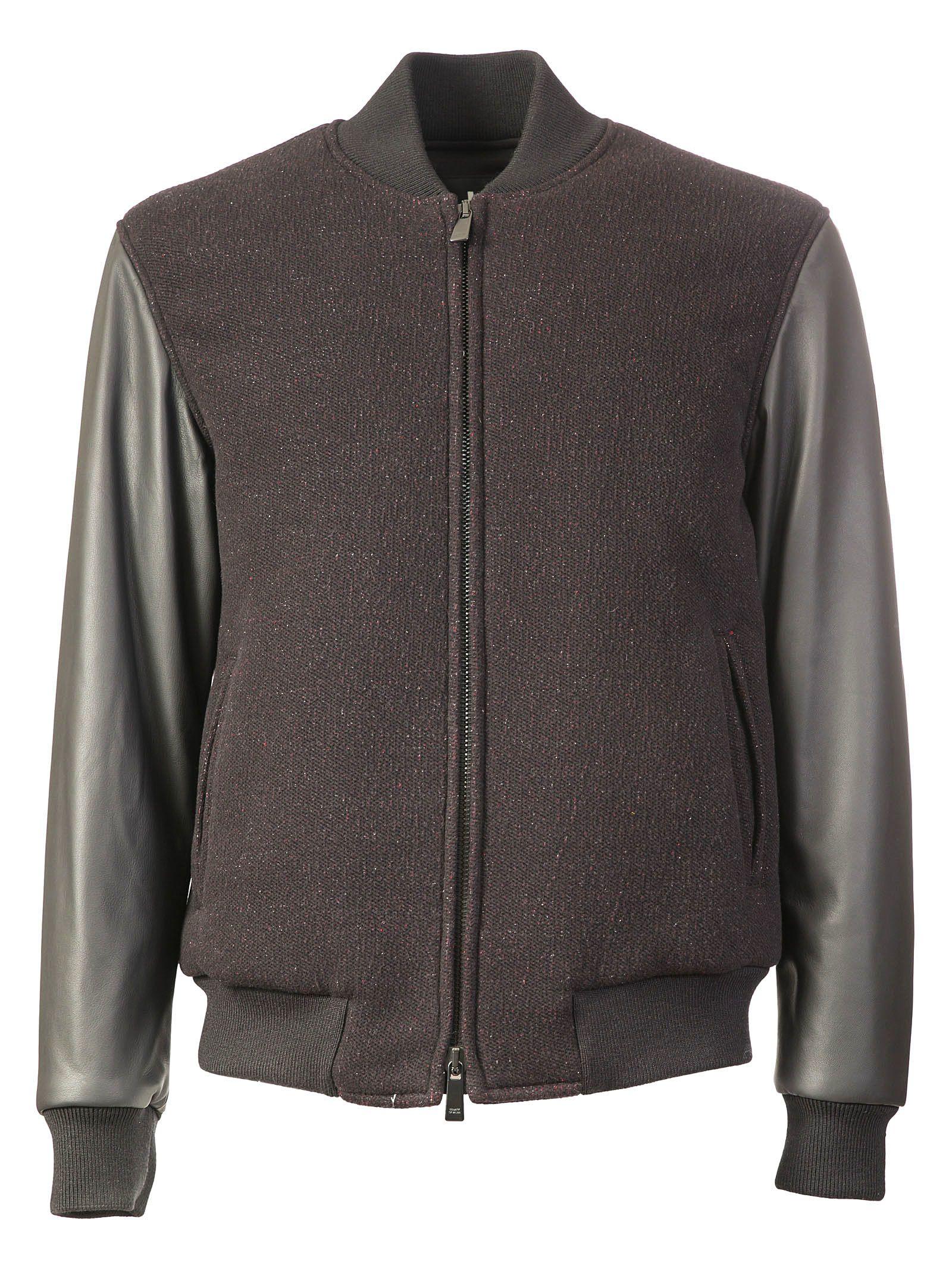 Marcelo Burlon Contrast Sleeve Varsity Jacket