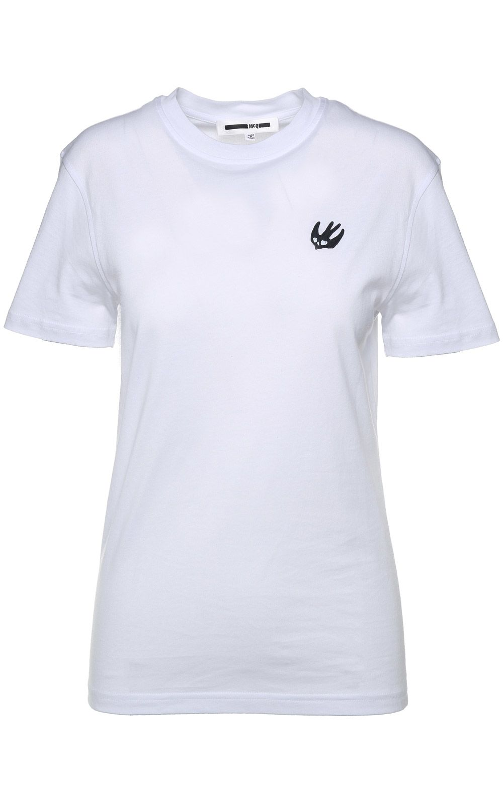 McQ Alexander McQueen Badge Swallow Cotton-jersey T-shirt