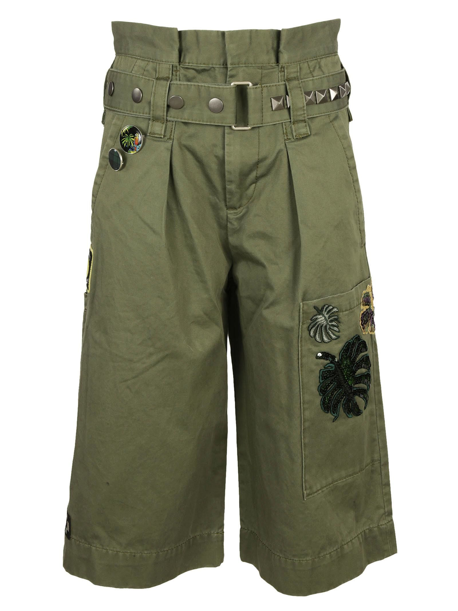 Marc Jacobs Embroidered Long Cargo Shorts