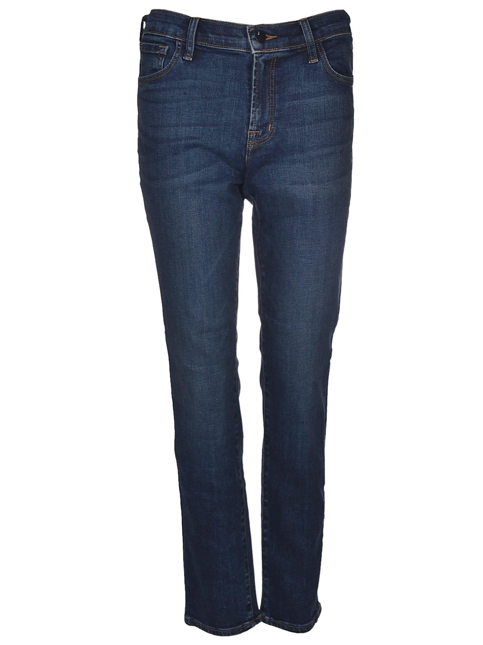 j brand j brand mid rise cigarette jeans blu women 39 s jeans italist. Black Bedroom Furniture Sets. Home Design Ideas