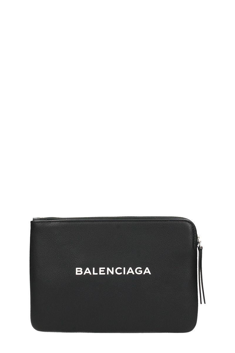 Balenciaga Shopping Medium Leather Pouch