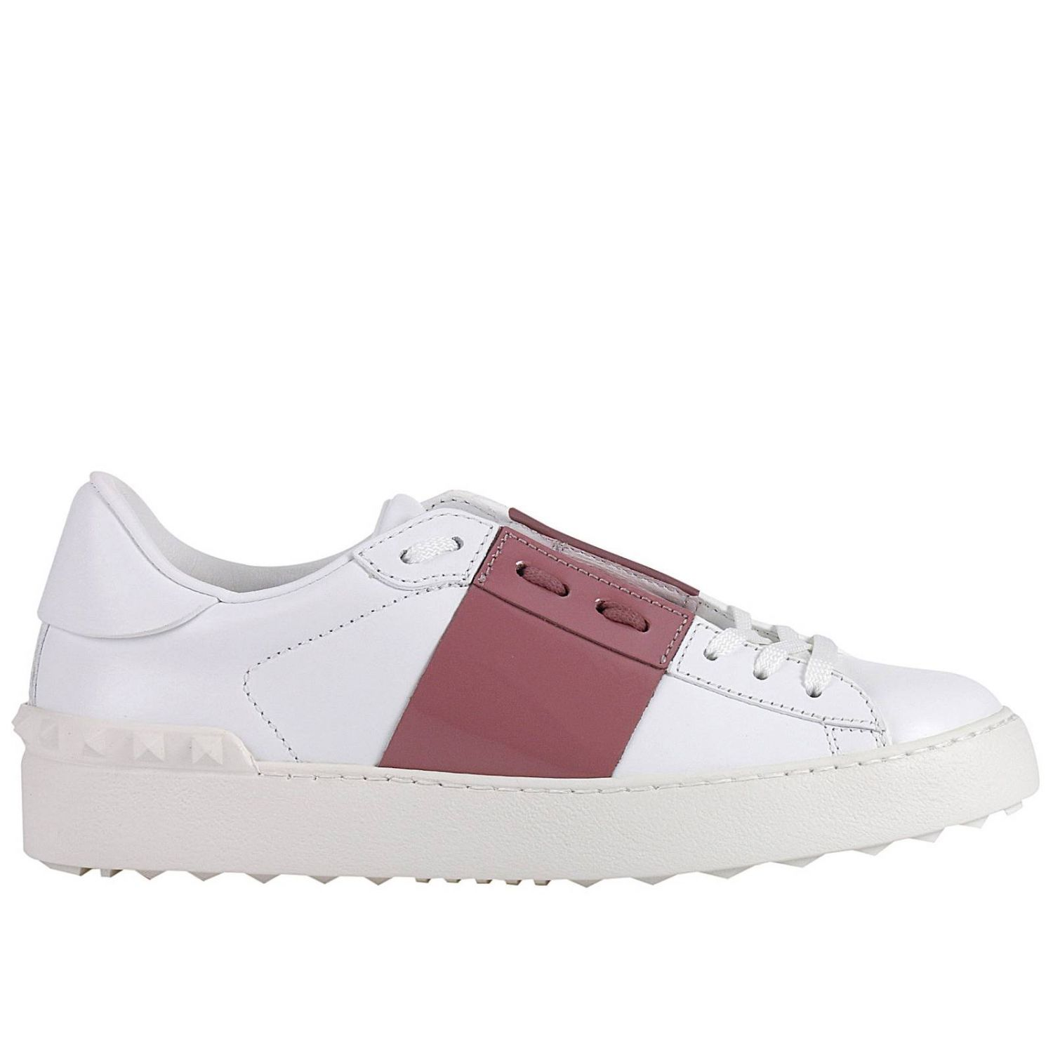 Sneakers Rockstud Open Sneakers With Tone On Tone Studs And Band In Paint