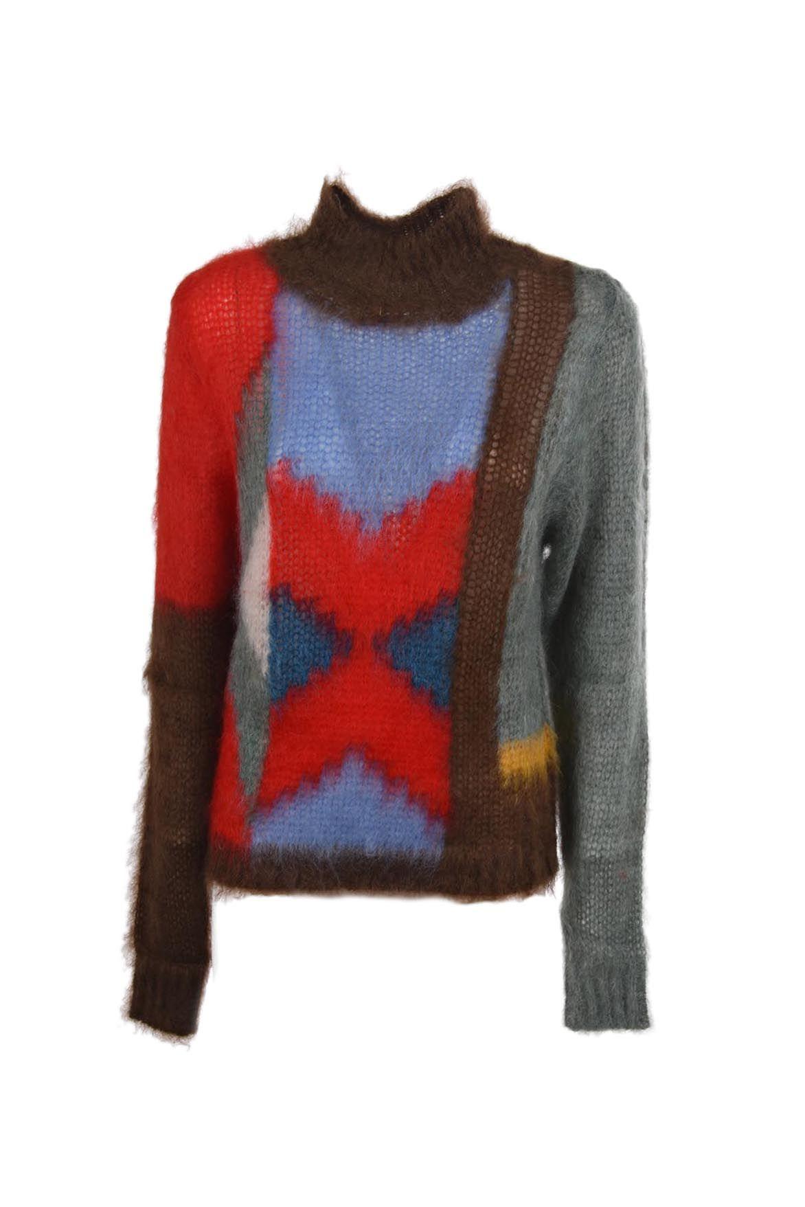 Chloé Chloe Asymmetric Pattern Pullover