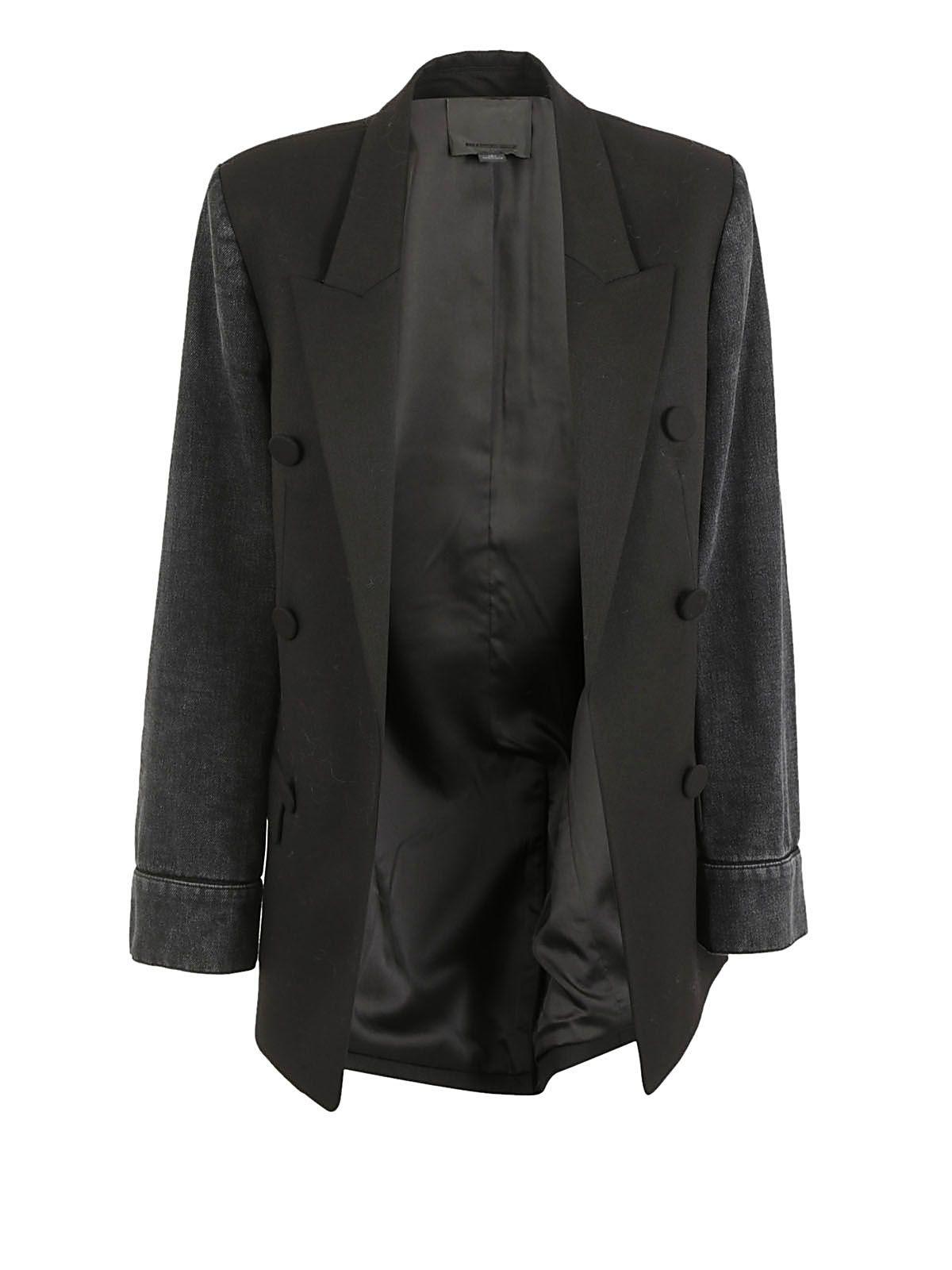 Alexander Wang Denim Sleeves Blazer