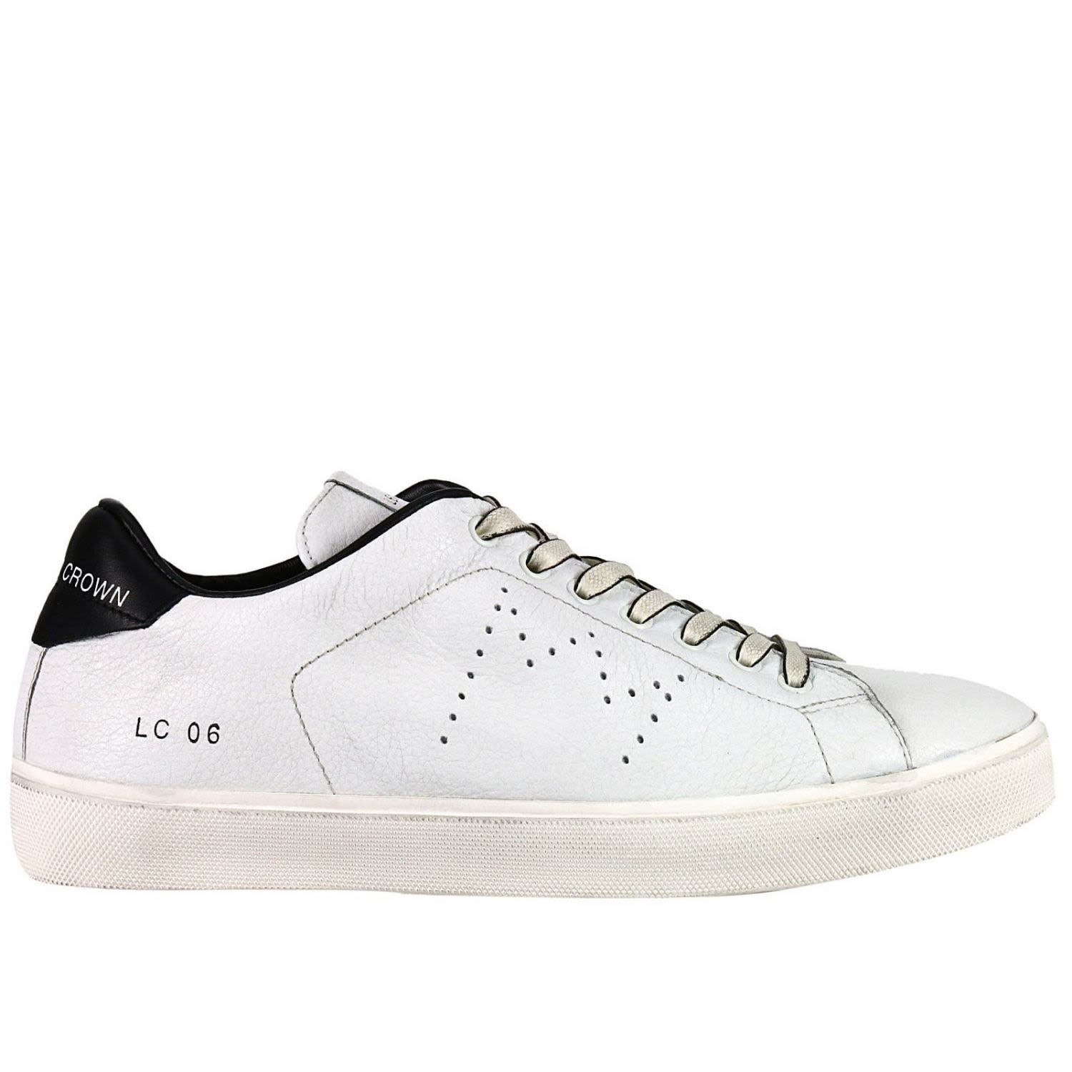 Sneakers Shoes Men Leather Crown