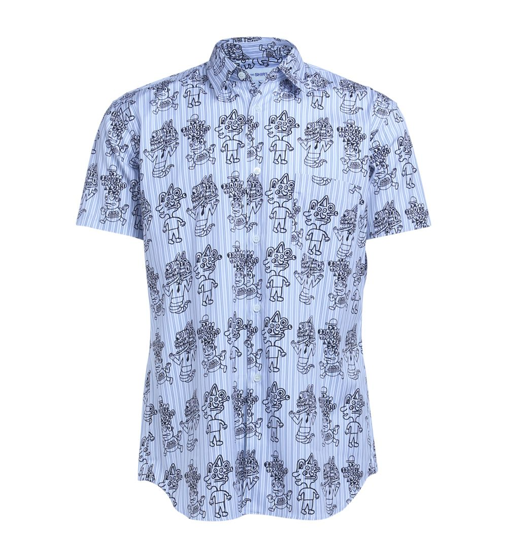 Comme Des Garçons White Shirt With Pattern