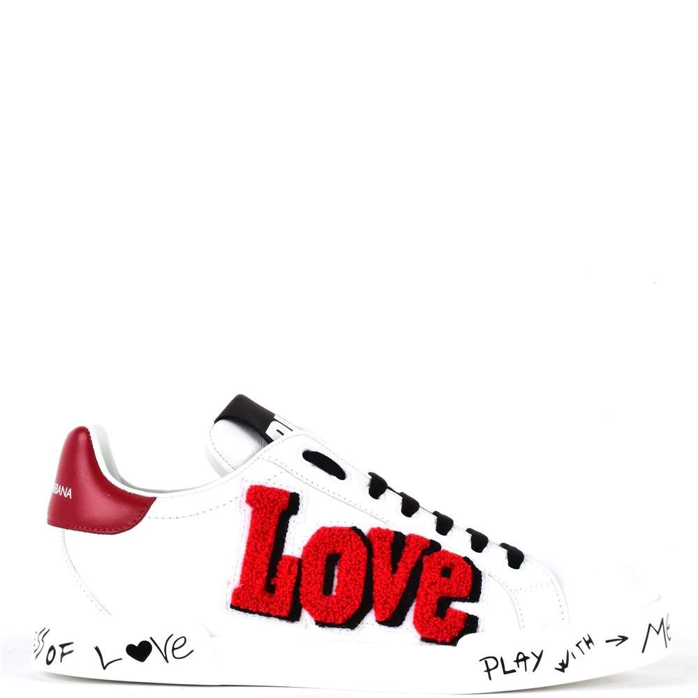 Dolce & Gabbana Dolce & Gabbana Portofino Sneaker With Love Patch