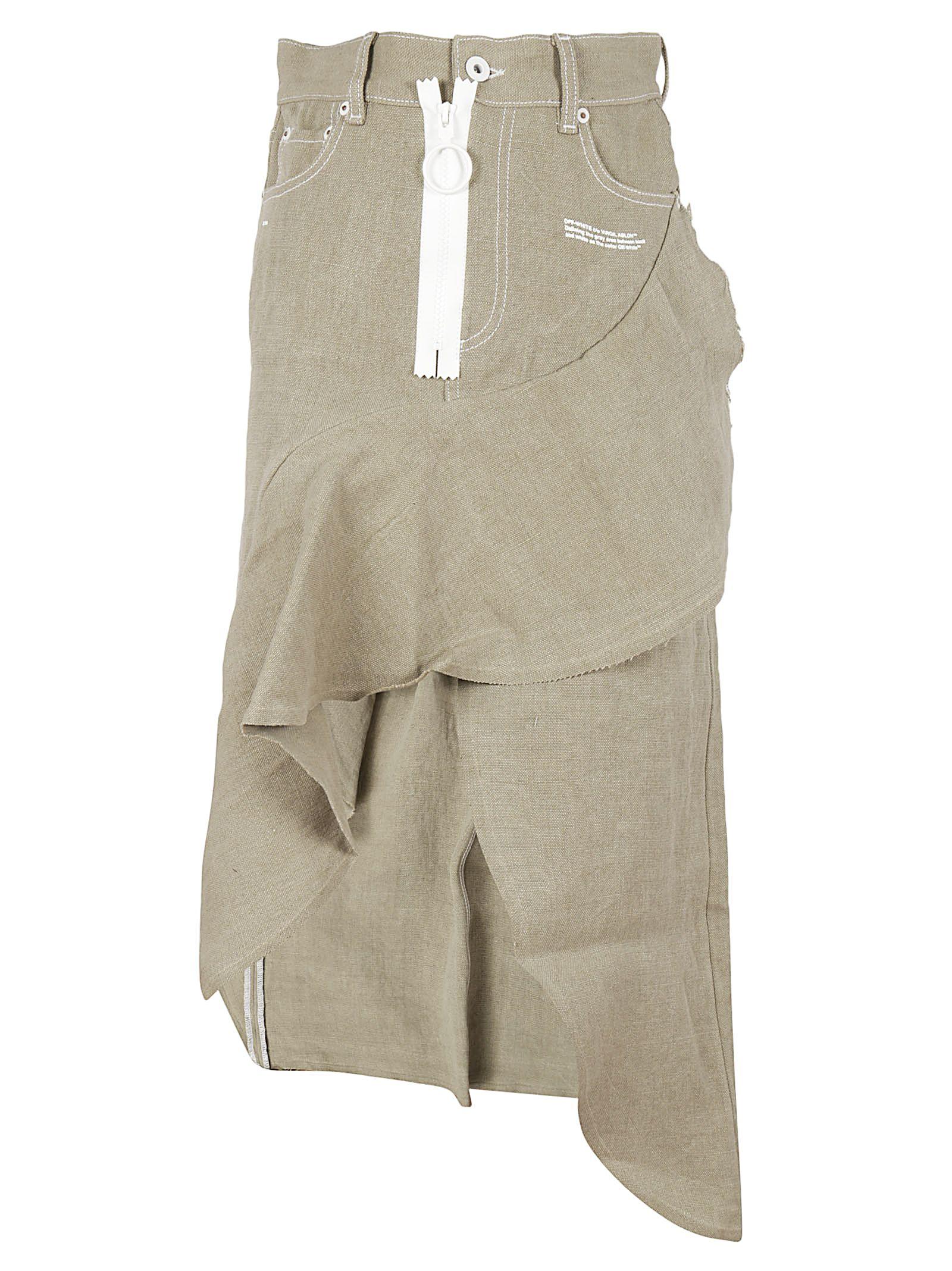Off-White Asymmetrical Skirt