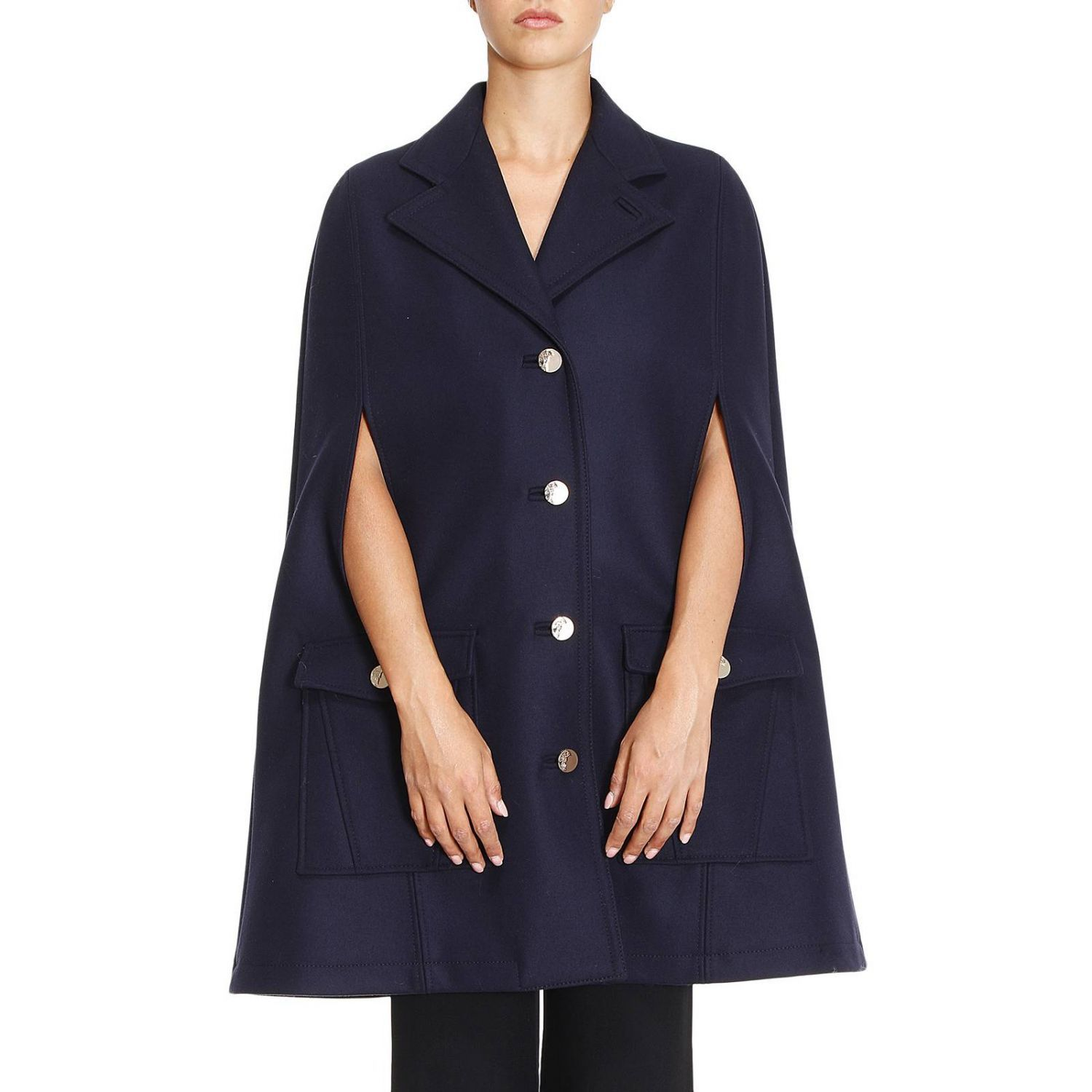 Cape Coat Women Versace Collection