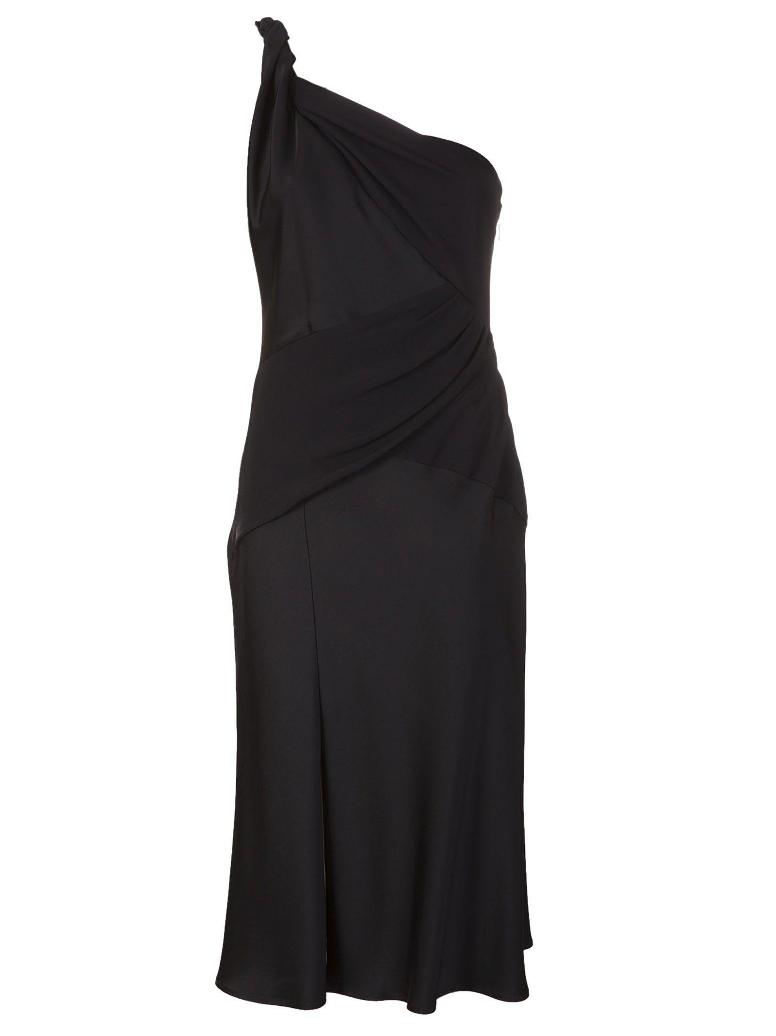 Versace Twisted One Shoulder Dress