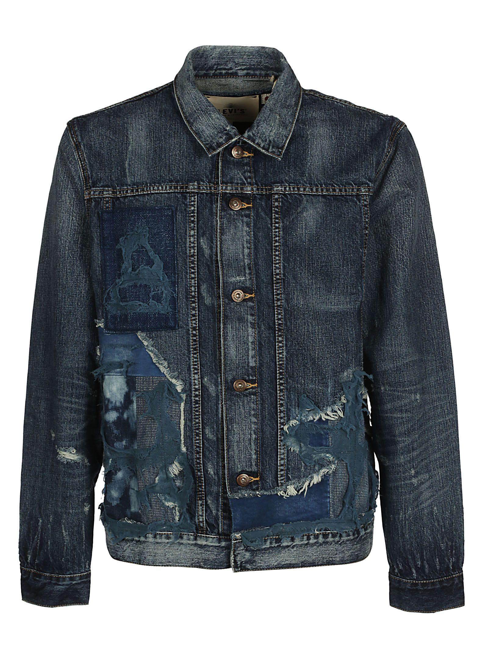 Leviss Made & Crafted Destroyed Denim Jacket