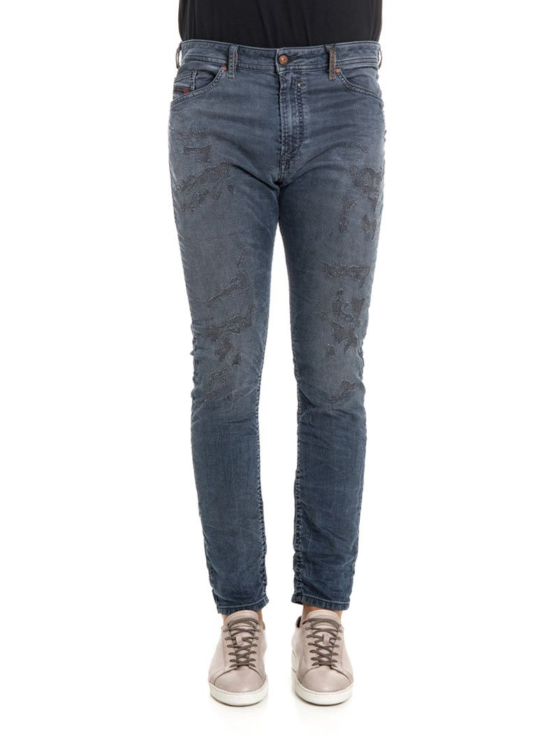 Diesel Spender-ne Lyocell And Cotton Jeans