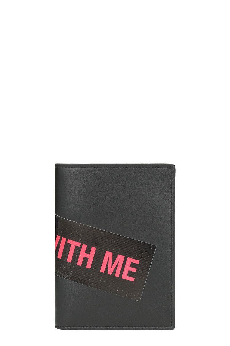 Raf Simons Black Leather Wallet