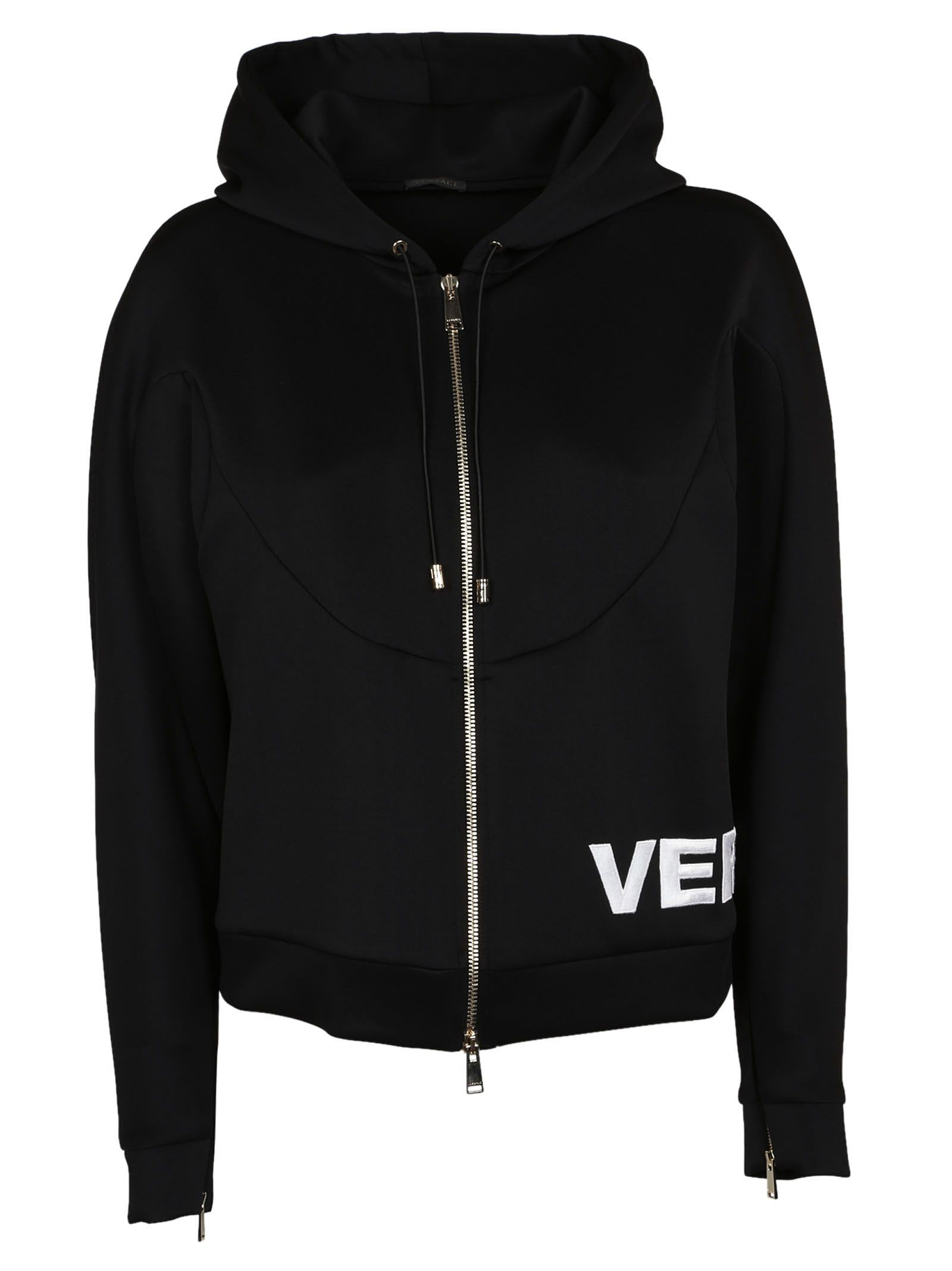 Versace Zipped Logo Hoodie