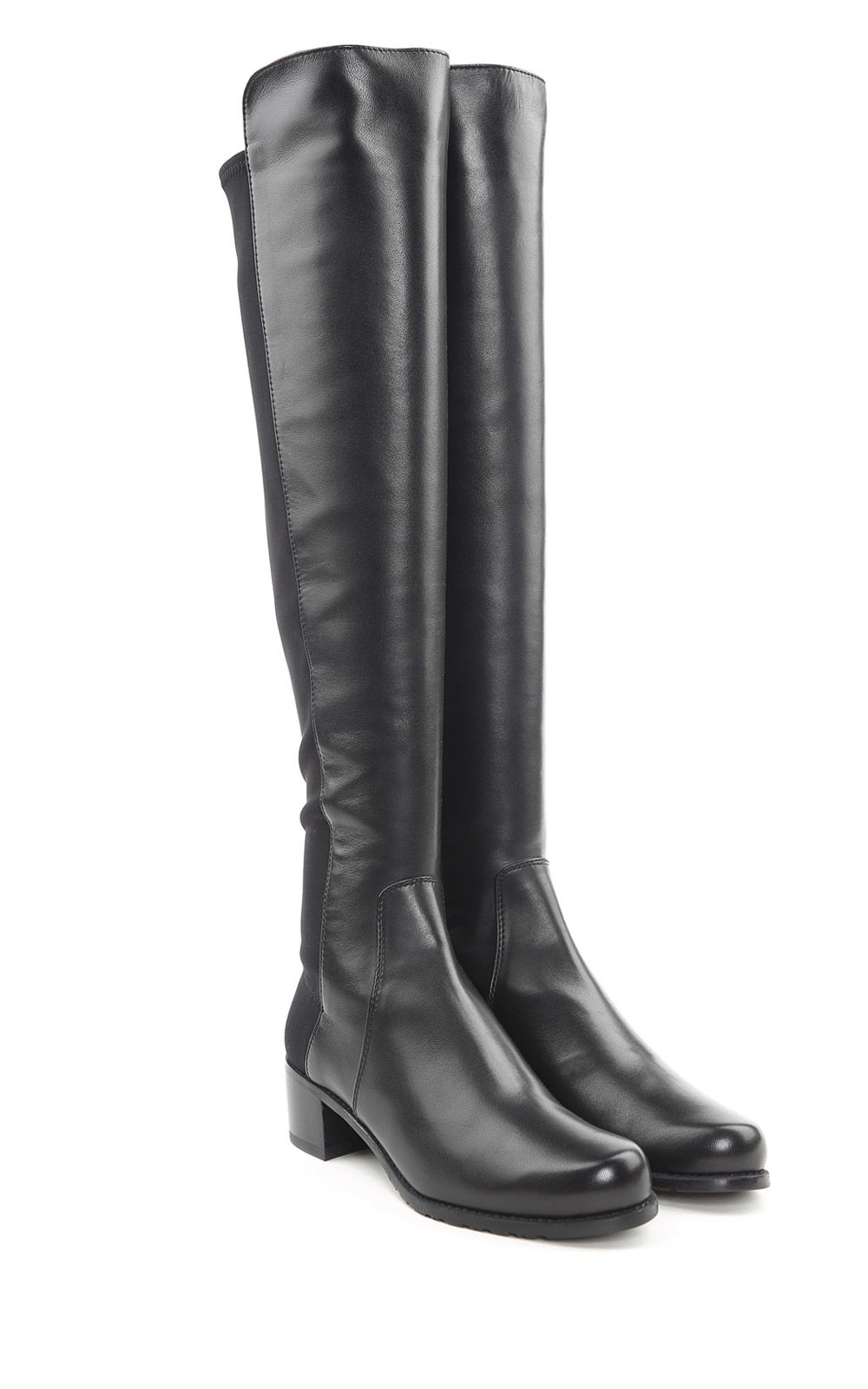 Stuart Weitzman Reserve Elastic-back Suede Boots
