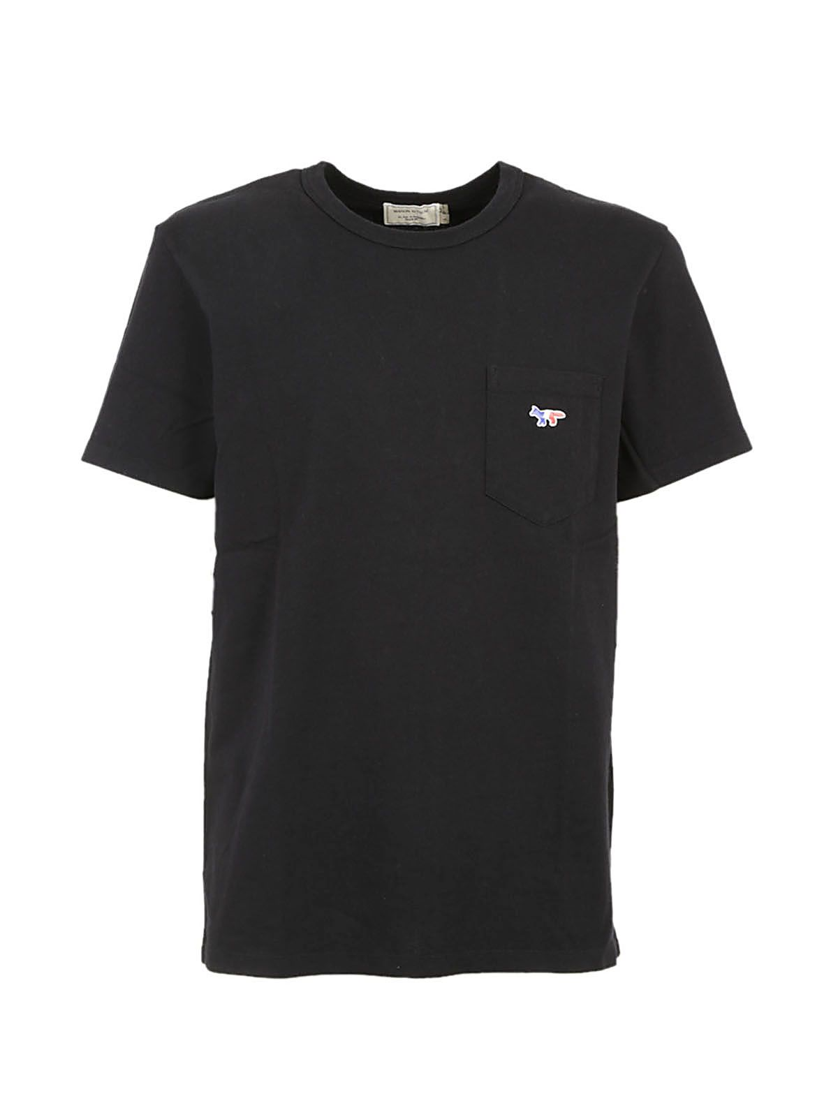 KITSUNÉ Chest Pocket T-Shirt in Black