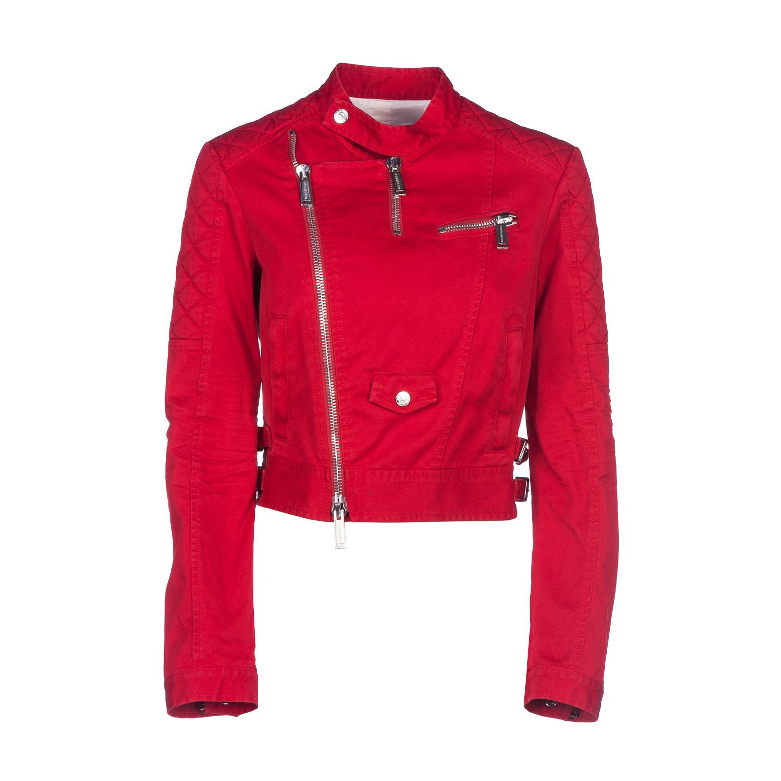 Dsquared2 Cropped Twill Biker Jacket