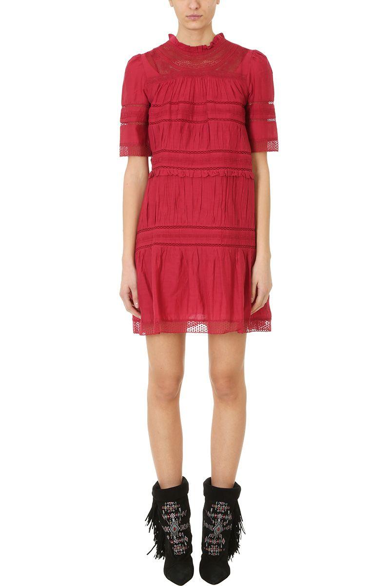 Isabel Marant Etoile Vicky Burgundy Dress