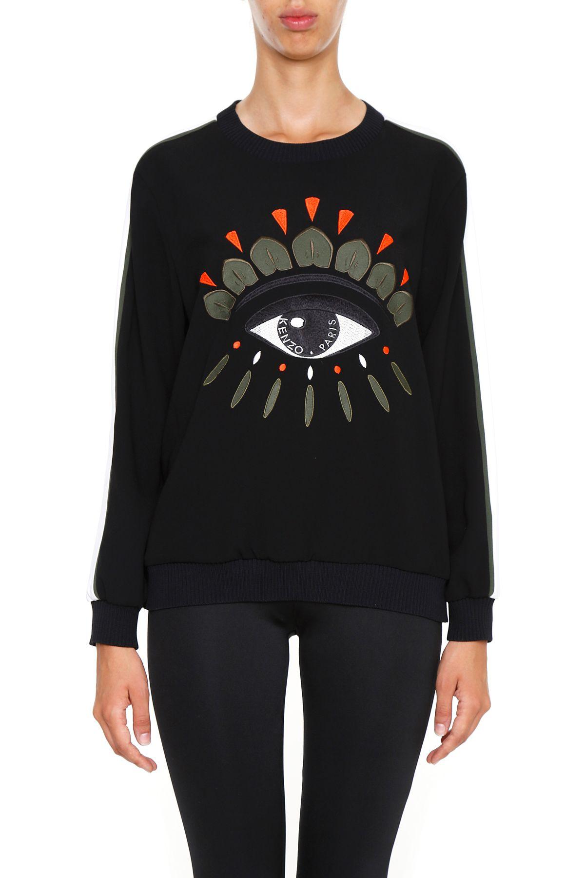 Sweatshirt With Eye Embroidery