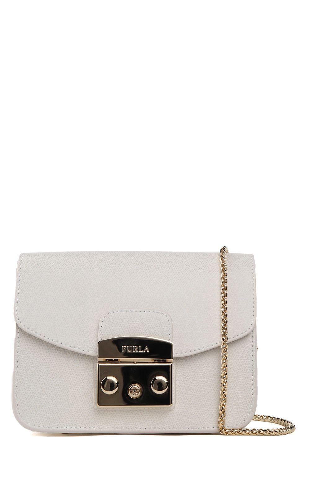 Furla Mini Metropolis Textured-leather Crossbody Bag