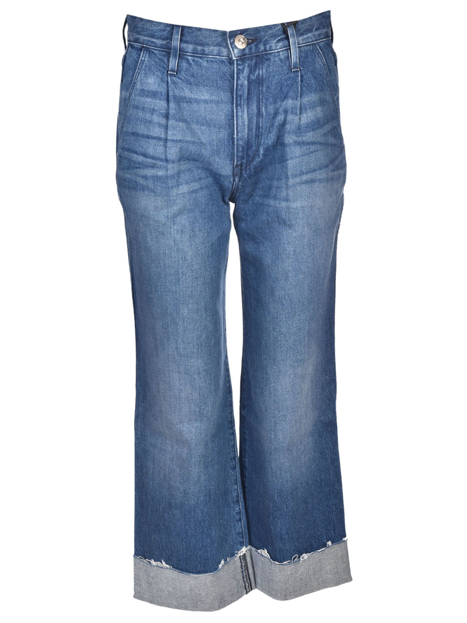 3x1 Shelter Pleated Crop Jeans
