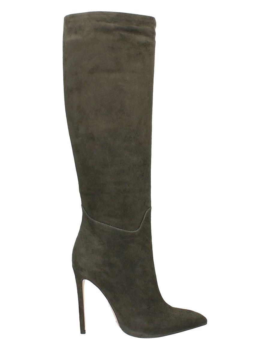 Gianni Renzi Grey Suede Boots