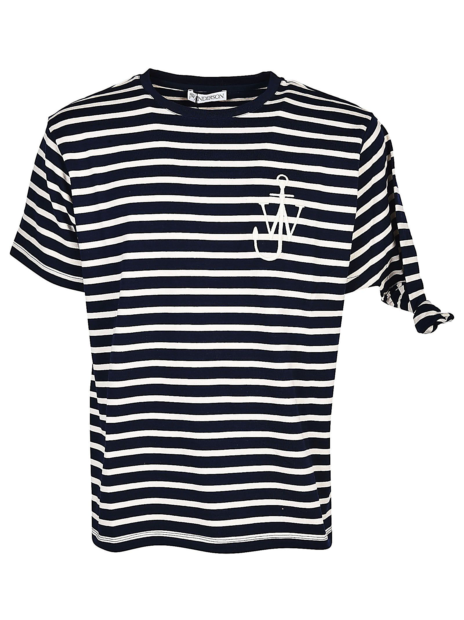 J.w Anderson Striped Detailing T-shirt