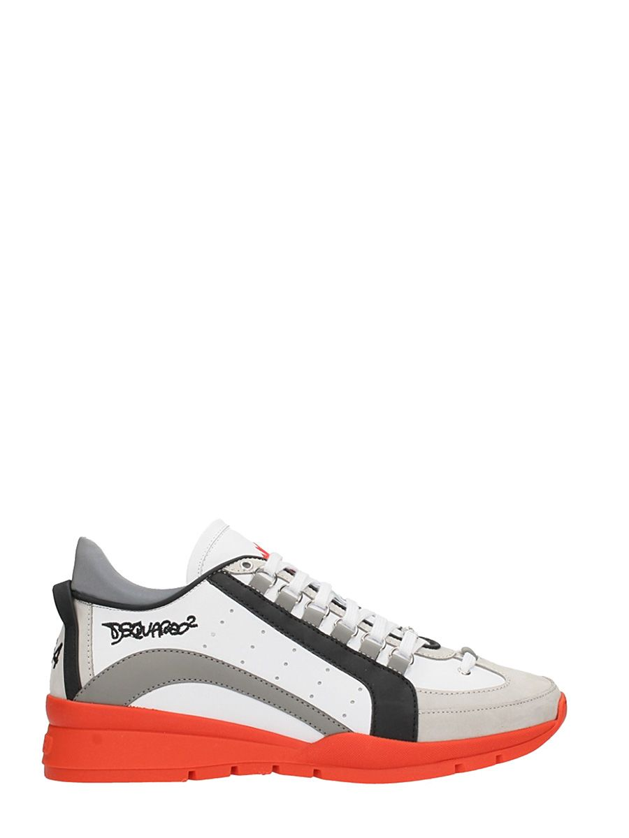 Dsquared2 551 White Leather Sneakers