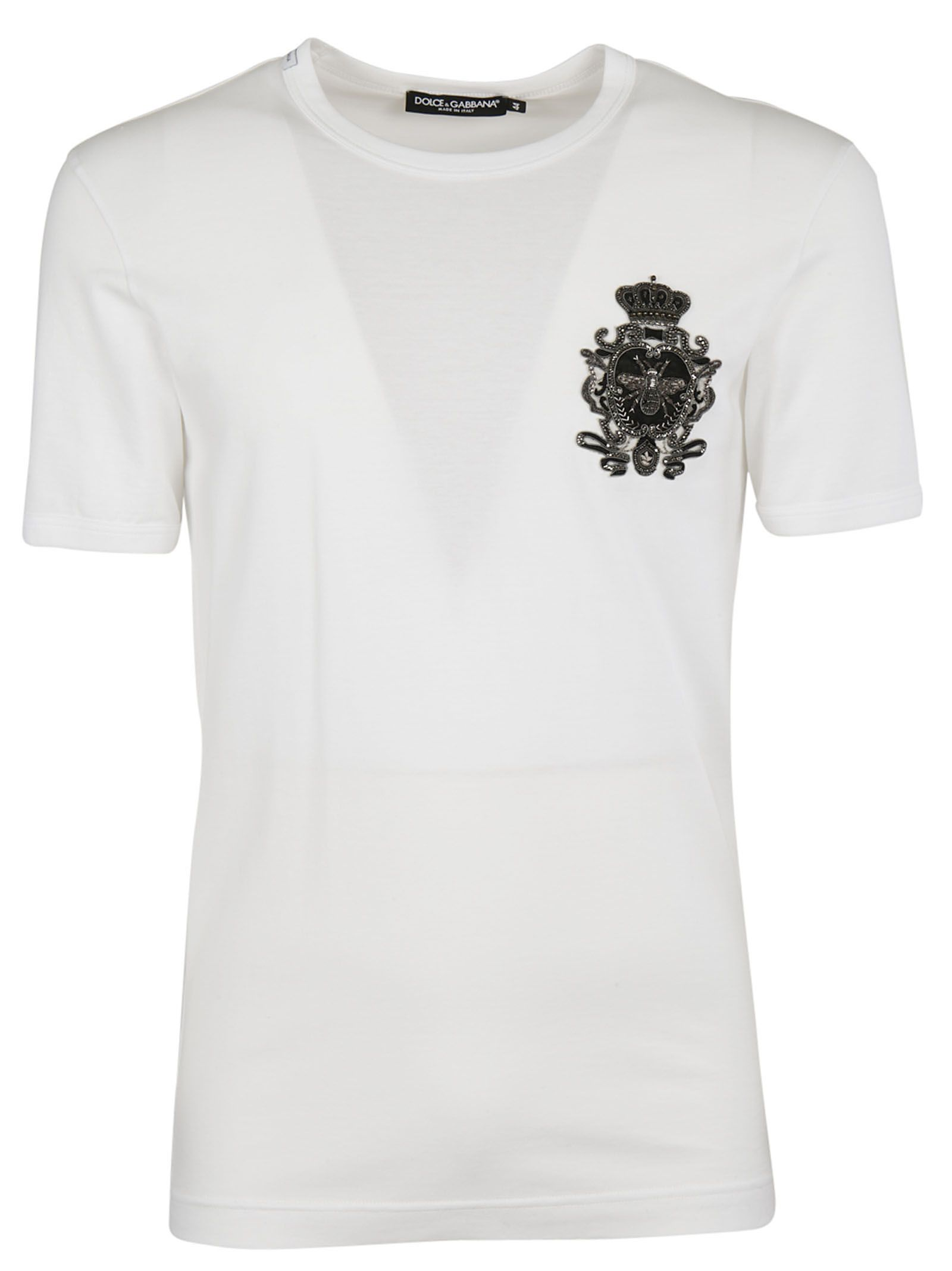 Dolce & Gabbana Crowned Bee Embroidered T-shirt