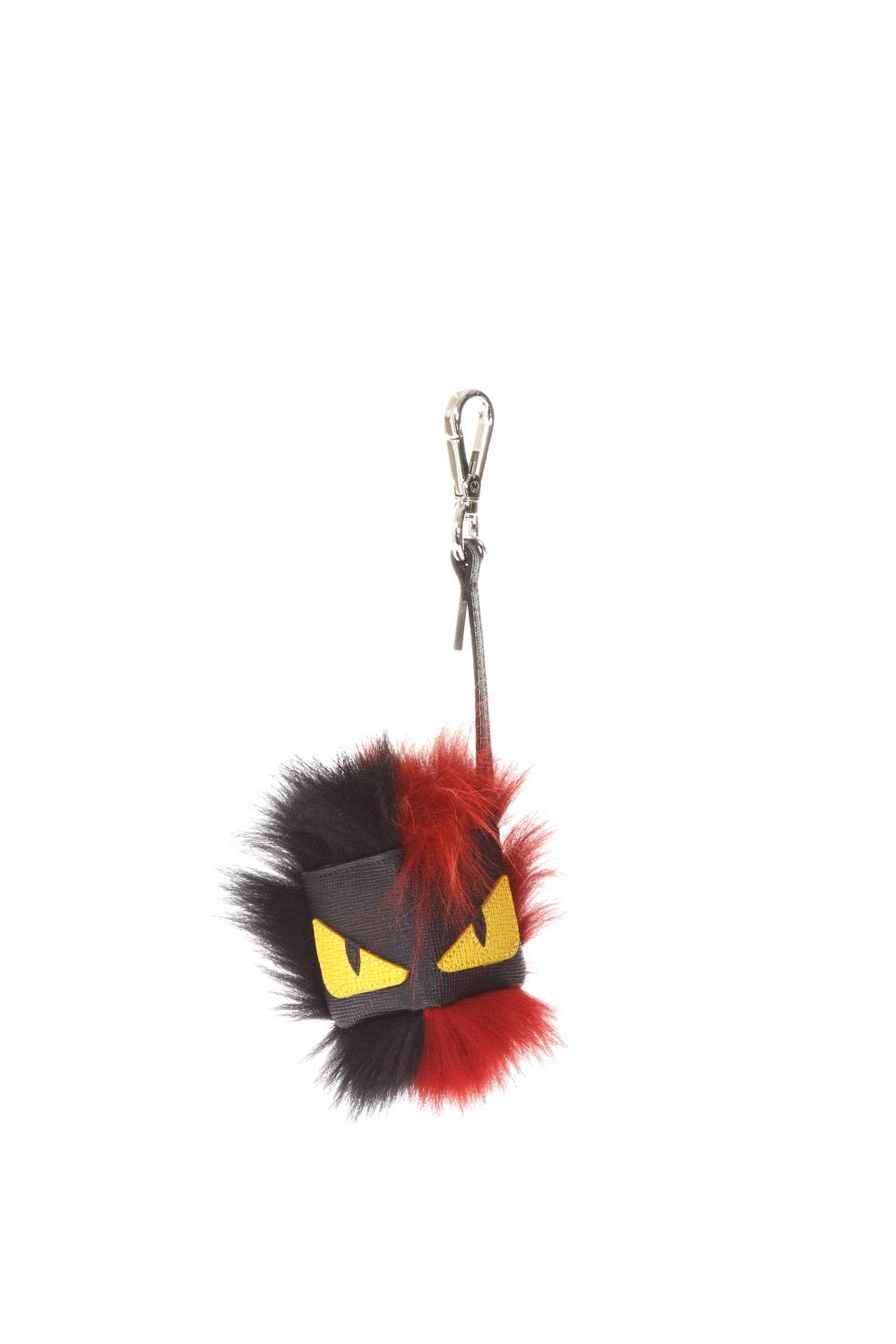 Fendi Bag Bug Fur & Leather Charm