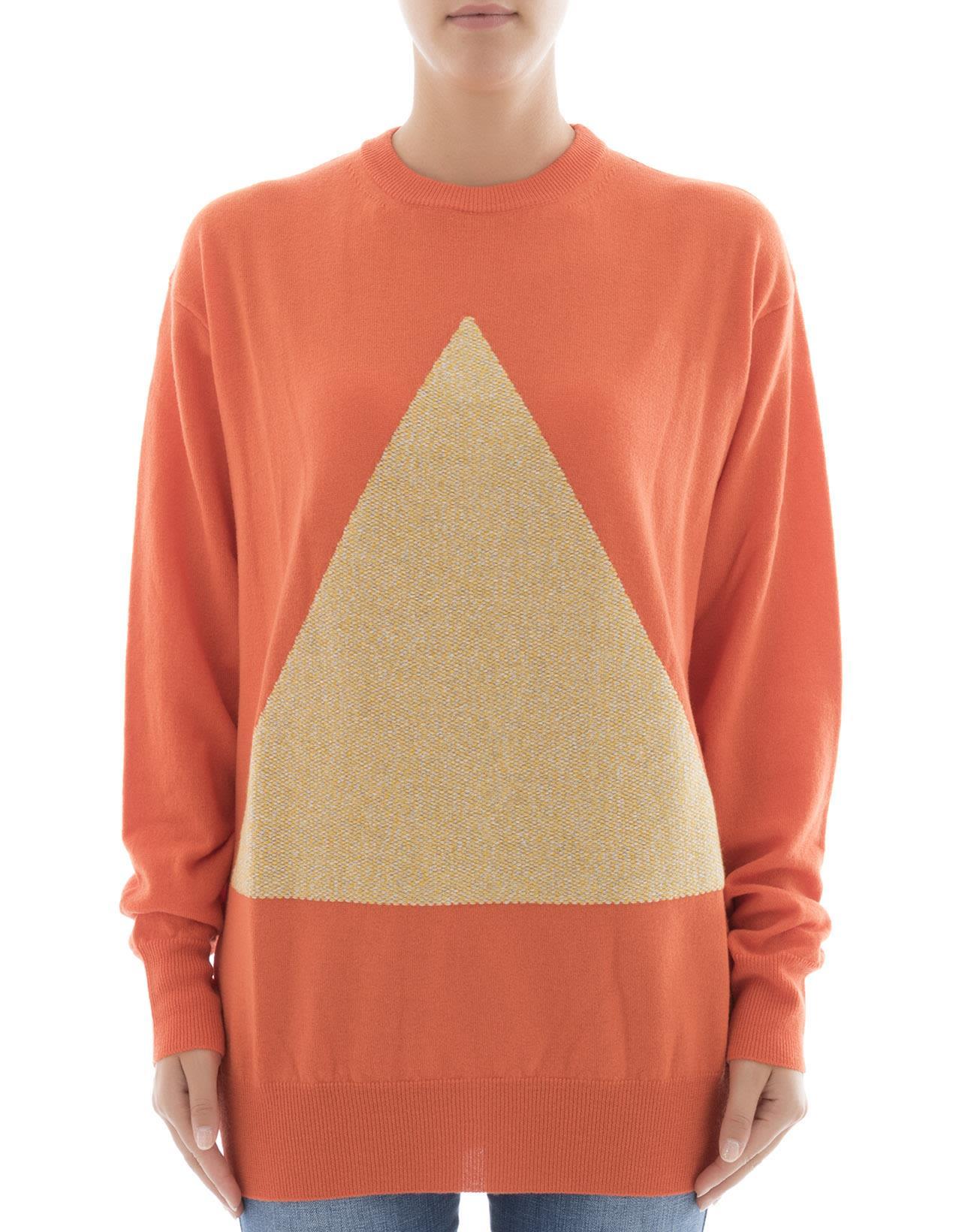 Orange Wool Sweatshirt