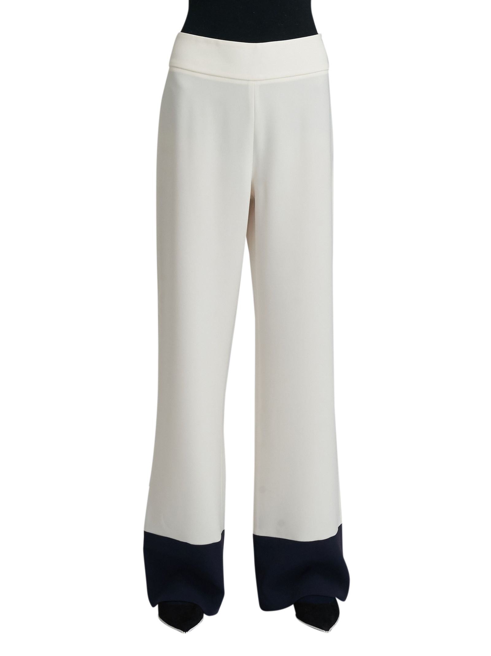 Max Mara Culotte Pants In White And Black