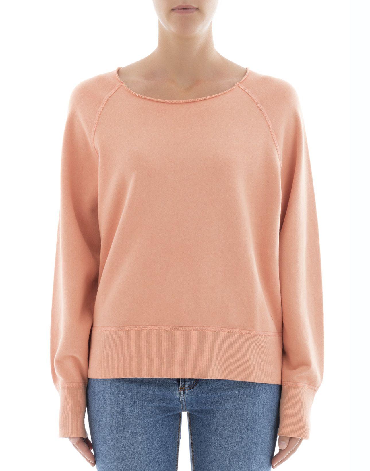 Rag & Bone - Orange Cotton Sweater - Orange, Women's Sweaters ...