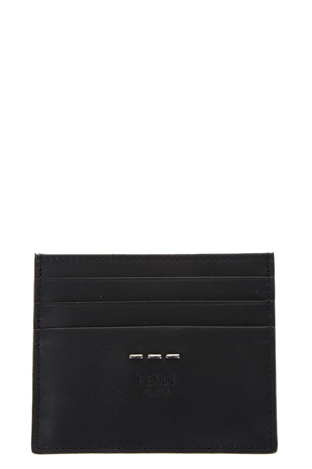 Fendi Selleria Smooth Leather Credit Cards Holder