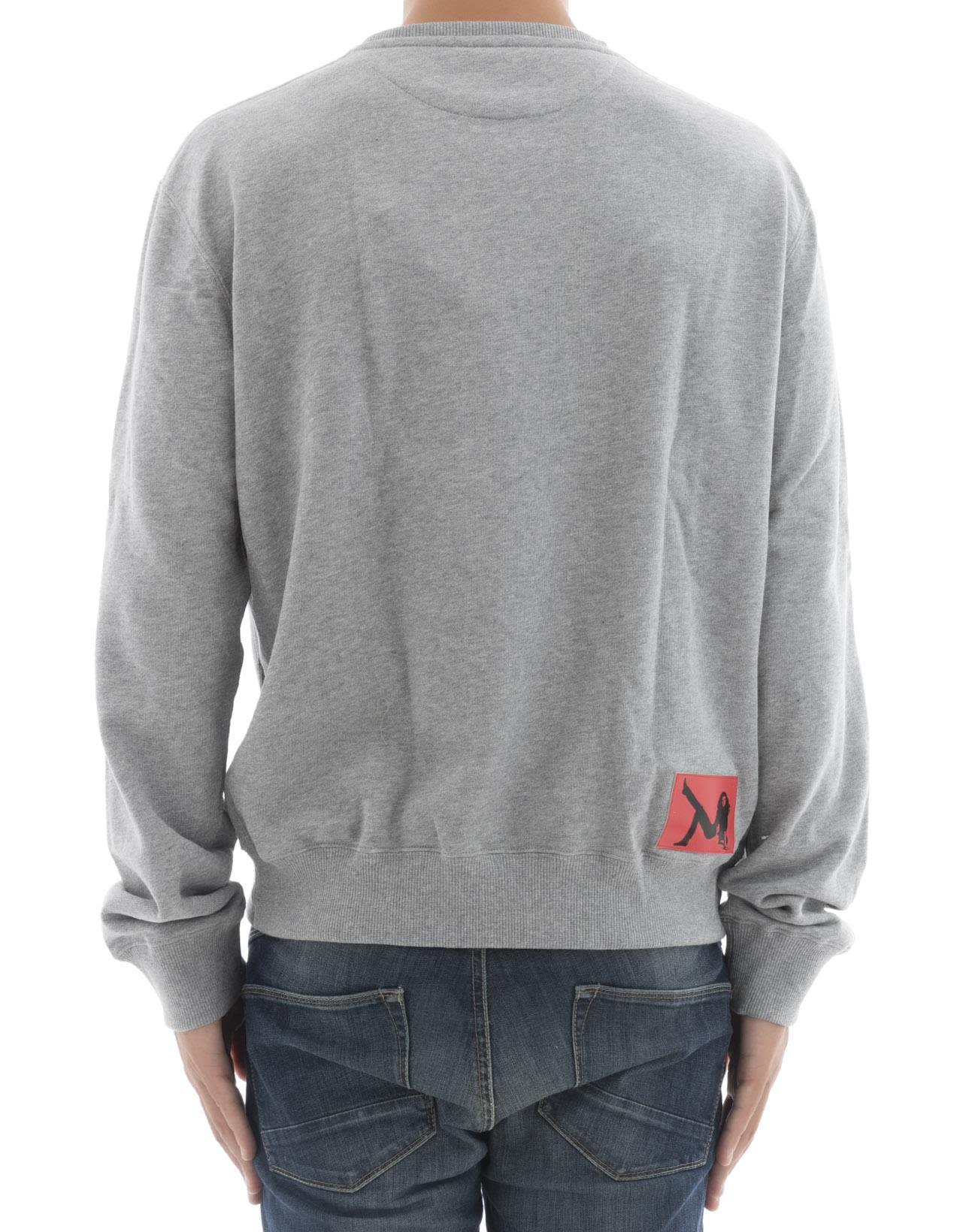 Calvin Klein - Grey Cotton Sweater - Grey, Men's Sweaters | Italist