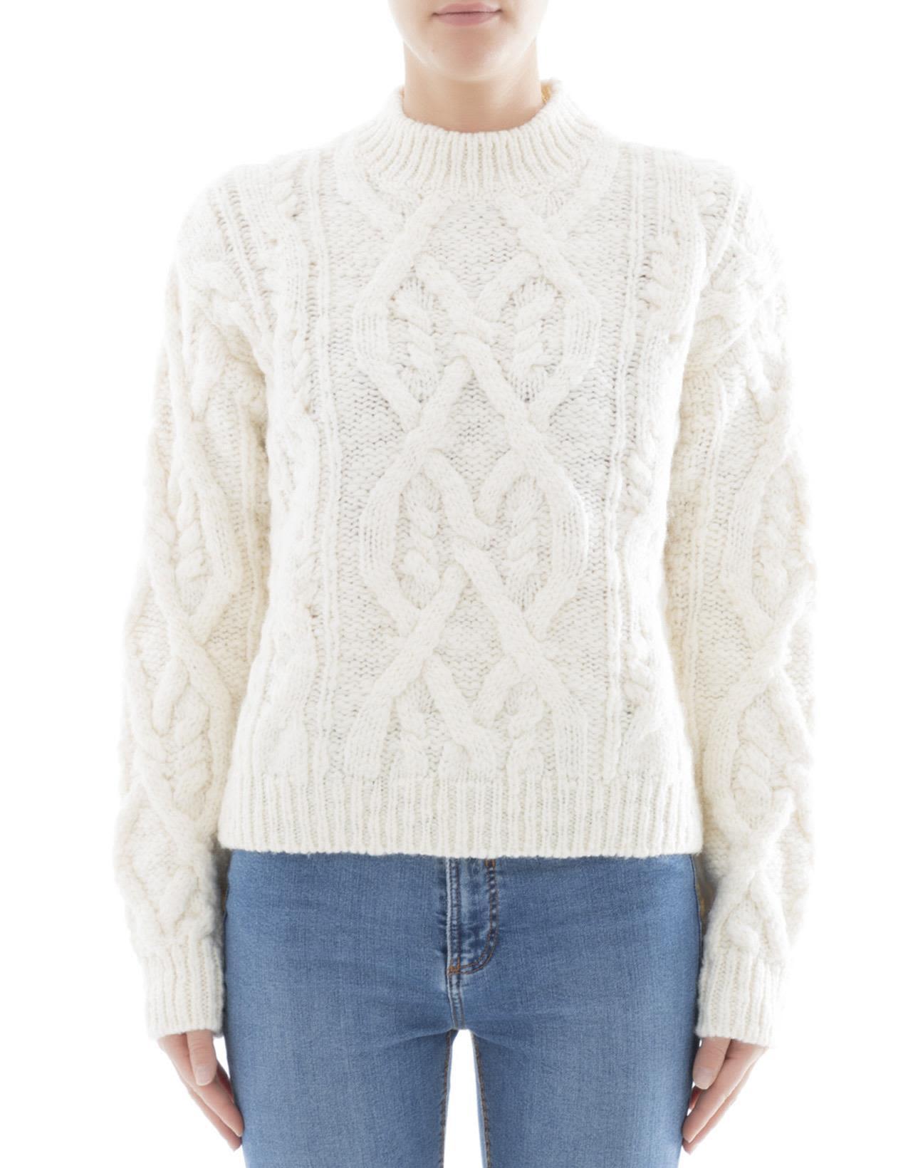 White Wool Knitwear
