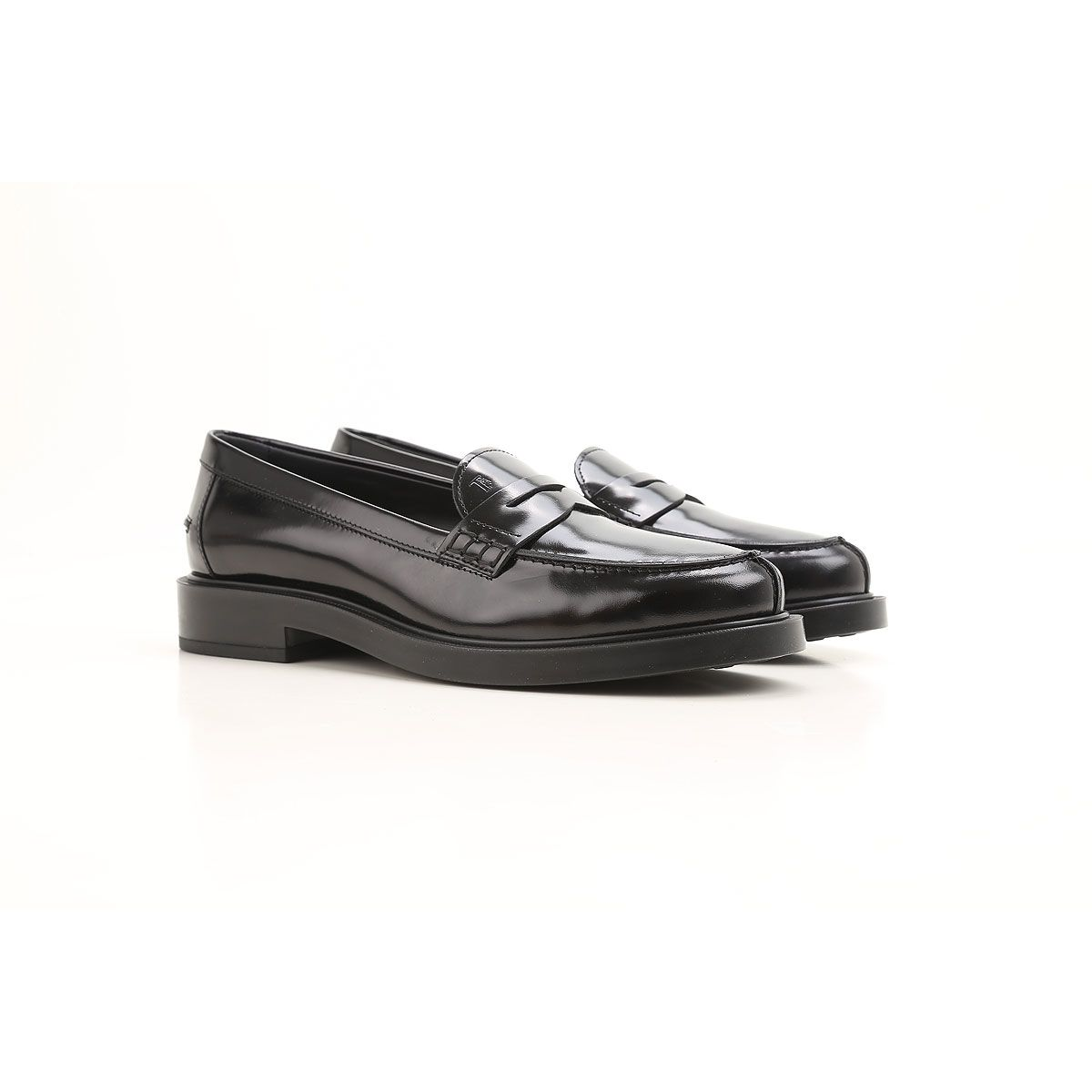 Penny Bar Detailed Leather Loafers