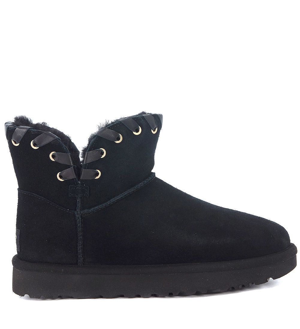 Ugg Aidah Black Suede Ankle Boots