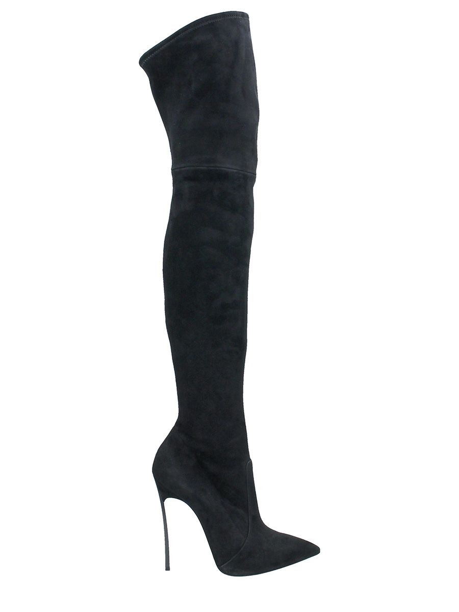 Black Over The Knee Boot from CASADEI